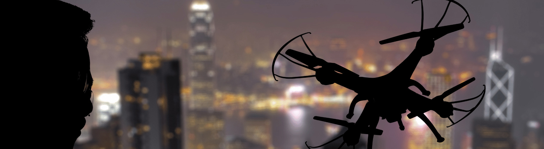 ドローン夜間飛行イメージ